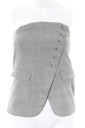 Zara Bandeautop schwarz-weiß grafisches Muster Casual-Look