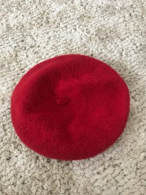 Zara Beret dark red-red