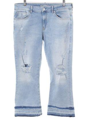 Zara Basic 3/4 Jeans blau Casual-Look