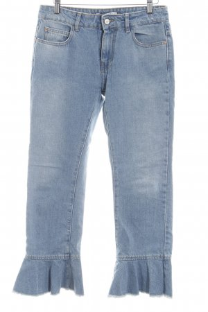 Zara Basic 7/8 Jeans blassblau Casual-Look