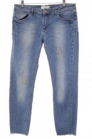 Zara Basic 7/8 Jeans hellblau Used-Optik