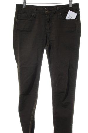 Zara Basic 7/8 Jeans waldgrün Casual-Look