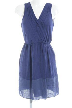 Zara Basic A-Linien Kleid blau-stahlblau Casual-Look