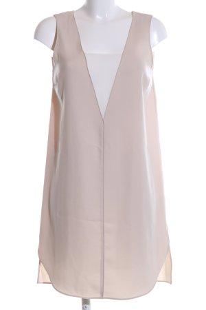 Zara Basic A-Linien Kleid wollweiß Casual-Look