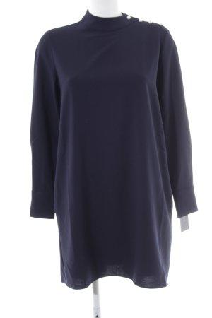 Zara Basic A-Linien Kleid dunkelblau Elegant