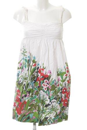 Zara Basic A-Linien Kleid florales Muster Beach-Look