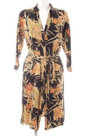 Zara Basic A-Linien Kleid florales Muster Boho-Look
