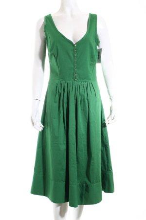 Zara Basic Vestido línea A verde estilo clásico