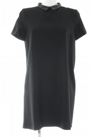 Zara Basic A-Linien Kleid schwarz Business-Look