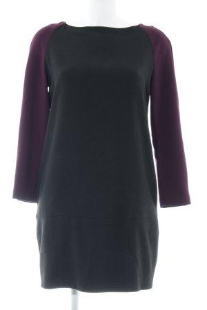 Zara Basic A-Linien Kleid schwarz-violett Casual-Look