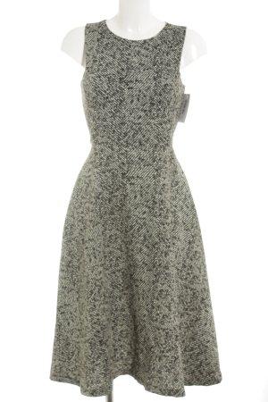 Zara Basic A-Linien Kleid schwarz-weiß abstraktes Muster Elegant