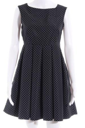 Zara Basic A-Linien Kleid schwarz-weiß Punktemuster 80ies-Stil