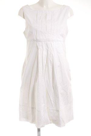 Zara Basic Vestido línea A blanco Estilo playero