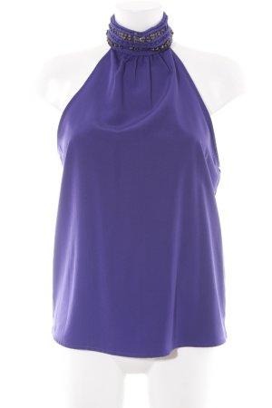 Zara Basic A-Linien Top dunkelviolett Party-Look