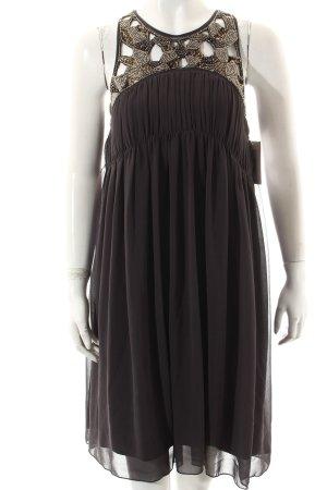 Zara Basic Abendkleid grau Paillettenverzierung