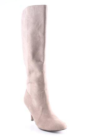 Zara Basic Laarzen met hak beige Boho uitstraling