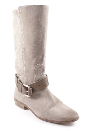 Zara Basic Absatz Stiefel graugrün Casual-Look