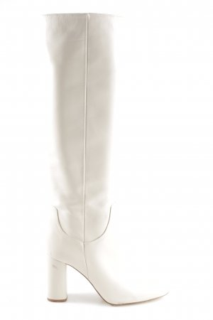 Zara Basic Absatz Stiefel hellbeige Casual-Look