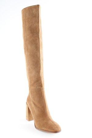 Zara Basic Absatz Stiefel rostrot Casual-Look