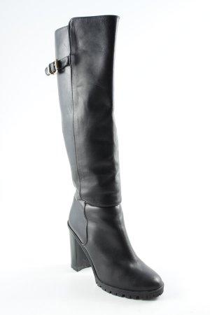 Zara Basic Absatz Stiefel schwarz Casual-Look