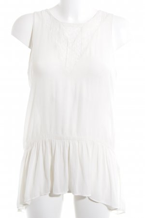Zara Basic Sleeveless Blouse cream casual look