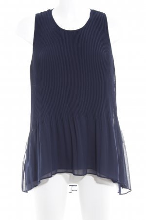 Zara Basic ärmellose Bluse dunkelblau Elegant