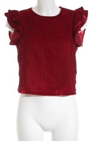 Zara Basic ärmellose Bluse dunkelrot Romantik-Look