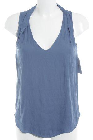Zara Basic ärmellose Bluse kornblumenblau Casual-Look