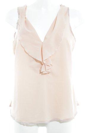 Zara Basic ärmellose Bluse nude-altrosa Beach-Look