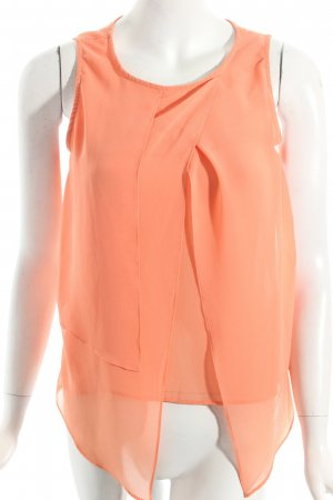 Zara Basic ärmellose Bluse orange Casual-Look