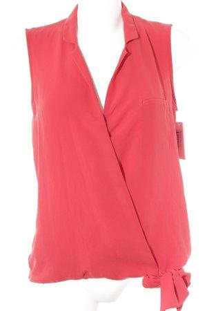 Zara Basic ärmellose Bluse rot Casual-Look