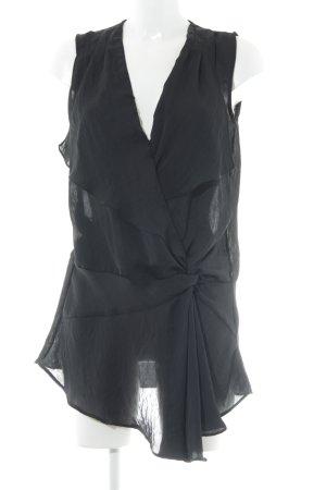 Zara Basic ärmellose Bluse schwarz Elegant