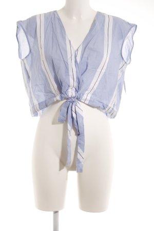Zara Basic ärmellose Bluse Streifenmuster Beach-Look