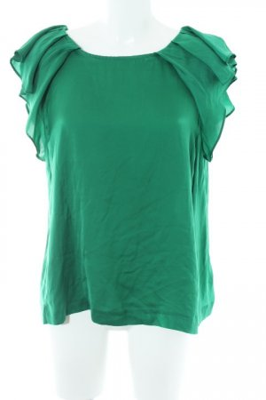 Zara Basic ärmellose Bluse waldgrün Casual-Look