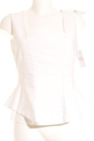 Zara Basic ärmellose Bluse weiß klassischer Stil