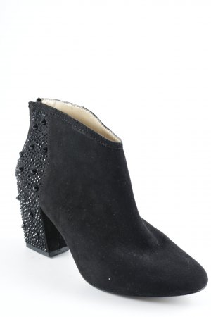 Zara Basic Ankle Boots schwarz Party-Look