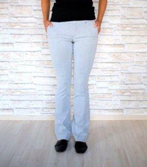 Zara Pantalon strech gris-blanc