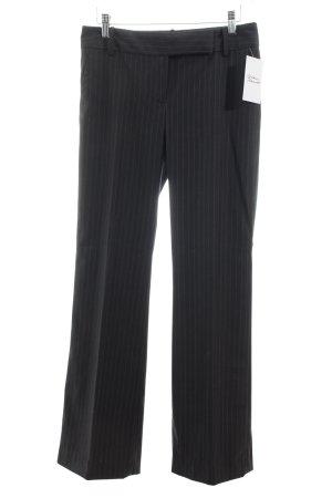 Zara Basic Anzughose schwarzbraun-hellbraun Nadelstreifen Business-Look