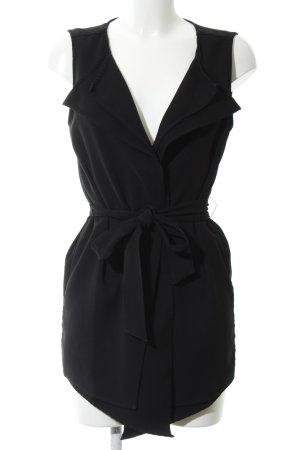 Zara Basic Anzugweste schwarz Business-Look