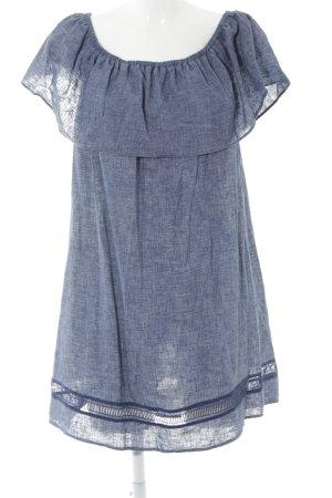 Zara Basic Babydollkleid graublau Jeans-Optik
