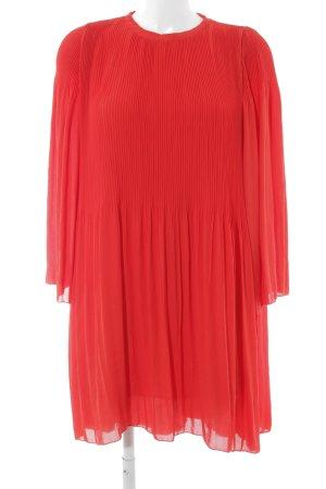 Zara Basic Vestido babydoll rojo-rojo ladrillo elegante