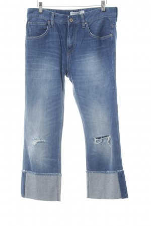 Zara Basic Vaquero holgados azul acero estilo boyfriend