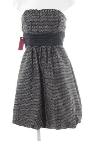 Zara Basic Ballonkleid schwarz-grau Punktemuster Elegant