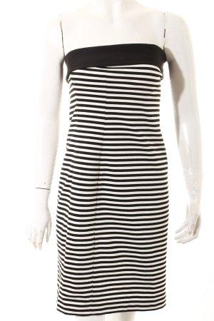 Zara Basic Abito a fascia bianco-nero stile casual