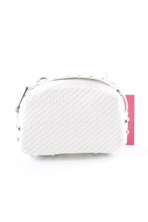 Zara Basic Bumbag natural white weave pattern casual look