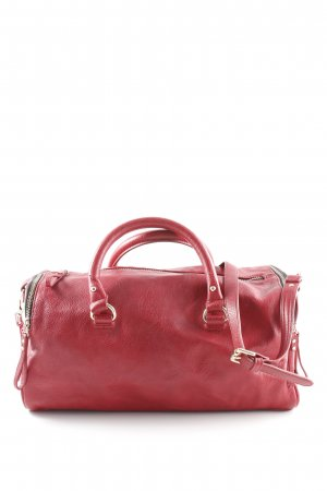 Zara Basic Pouch Bag gold-colored-red casual look