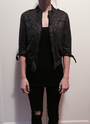 Zara Bikerjack zwart-donkergrijs