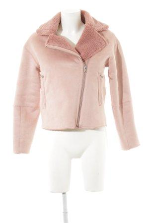 Zara Basic Veste motard vieux rose style romantique