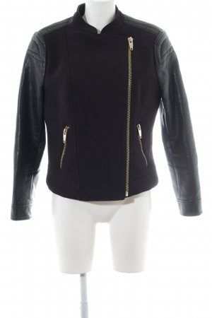 Zara Basic Biker Jacket black biker look