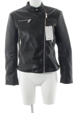 Zara Basic Bikerjacke schwarz Biker-Look